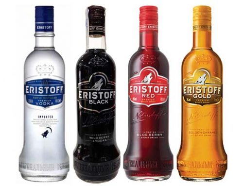 The different vodkas of Eristoff