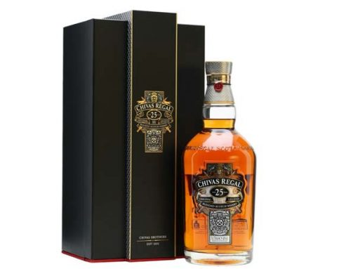 Chivas Regal 25 years old. A premium drink